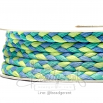 เชือกเปียถัก 3เส้น 6มม. สีน้ำเงิน-เขียวมิ้นท์-เขียว (18 หลา)