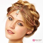 คาดผม European Bohemian Headdress Red