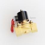 """โซลินอยด์วาล์วทองเหลือง N/C 220V AC 1"""""""