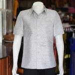 เสื้อสูทไหมผสมฝ้าย สีเทาเงิน ไซส์ XL