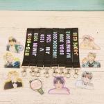 พวงกุญแจ Name Tag +รูปอะคริลิค BTS โฮโลแกรม -ระบุหมายเลข-
