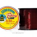 เอ็นกลม(ไม่ยืด) เบอร์ 0.50 สีแดง (500 เมตร)