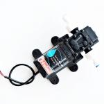 ปั๊มแรงดันต่ำ 12VDC 45W 8 บาร์ ( สำหรับพ่นหัวเกลียว/กระดุม 3-10 หัวพ่น ) + ข้อต่อข้างปั๊ม