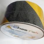 """anti slip tape เทปกันลื่น สีเหลืองดำ กว้าง 2"""" ยาว 3 เมตร เทปมีกาว ผิวกระดาษทราย สำหรับติดบันได ทางเดิน ทางลาดเอียง สำเนา"""