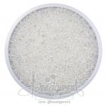 ลูกปัดเม็ดทราย 12/0 โทนมุก สีขาว (15 กรัม)