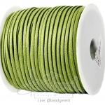 เชือกหนังซามัวร์ 3มม. สีเขียวจืด (100 หลา)