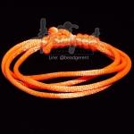เชือกหางหนู 2มม. สีส้มสะท้อน (1 หลา)
