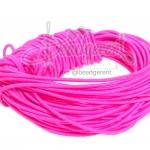 ยางยืด เส้นกลม 1มม. สีชมพูสะท้อน (10 หลา)