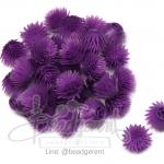 ดอกบานไม่รู้โรย พลาสติก 13*15มม. สีม่วง (10 กรัม)
