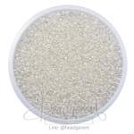 ลูกปัดเม็ดทราย 12/0 สอดไส้ สีขาว (15 กรัม)