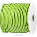 เชือกหนังซามัวร์ 3มม. สีเขียวมะนาว (100 หลา)