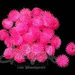 ดอกบานไม่รู้โรย พลาสติก 13*15มม. สีชมพู (10 กรัม)