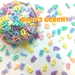 Mixed Pastel Color Alphabet Acrylic Pendant Beads (10g)
