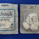 สำลีก้อน ปราศจากเชื้อ 0.35 กรัม ห่อละ 5 ชิ้น Cotton ball Sterile 0.35Gx5's