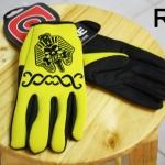 ถุงมือเจลเต็มนิ้ว QEPAE - Yellow Skull