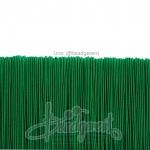ยางยืด เส้นกลม 1มม. สีเขียวเข้ม (144 หลา)