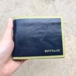 กระเป๋าสตางค์ผู้ชาย MS183 [สีกรมท่า ด้านในน้ำตาล]