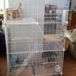 กรงแมว กรงสัตว์เลี้ยง แบบ 3 ชั้น มีบันได ประกอบง่าย