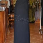 ผ้าถุงผ้าฝ้ายสีดำ มีเชือกผูกเอว ฟรีไซส์