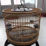 กรงนก บ้านนก กรงไม้ Quality handmade bamboo red bamboo crafts for children birdcage cage canary child Kaiko red embroidered with birds eye