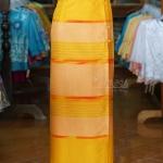 ผ้าถุงป้าย ลายศิลามณี สีเหลือง เอว 28 นิ้ว