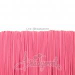 ยางยืด เส้นกลม 1มม. สีชมพูหวาน (144 หลา)