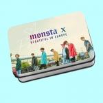 โพราลอยด์ 40แผ่น + กล่องเหล็ก MONSTA X SHINE FOREVER
