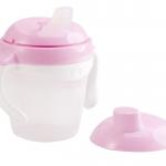 KK-12 ถ้วยหัดดื่ม Kido Spout Cup Step 1 (6 เดือน+) สีชมพู