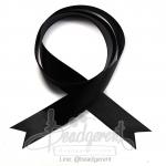 ริบบิ้น 25มม. ผ้าซาติน สีดำ (1 หลา)