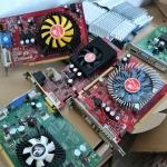 การ์ดจอเล่นเกมระดับล่าง PCI-E คละรุ่น