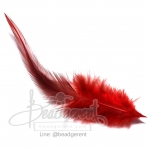 Feather 13cm Red(3piece)