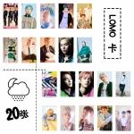 LOMO CARD 20 รูป + ไม้หนีบ EXO CBX