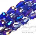 คริสตัลโมดาห์ 10x16มม. ทรงหยดน้ำ สีน้ำเงิน (40 เม็ด)