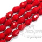 คริสตัลโมดาร์ 6x9มม. ทรงหยดน้ำ สีแดง (70 เม็ด)