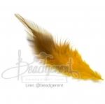 ขนนก 13ซม. สีเขียเหลือง สองสี (15 ชิ้น)