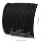 เชือกหนังซามัวร์ 3มม. สีดำ (100 หลา)