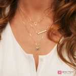 สร้อยคอ Triangle sequins necklace мода