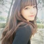 วิกผมหน้าม้ายาวทนความร้อน เกาหลี สวยใส น่ารัก มีสไตล์ (สีดำ)