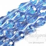 คริสตัลโมดาห์ 10x16มม. ทรงหยดน้ำ สีน้ำเงินจืด (40 เม็ด)