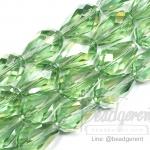 คริสตัลโมดาห์ 10x16มม. ทรงหยดน้ำ สีเขียว (40 เม็ด)