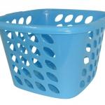 ตะกร้าสี่เหลี่ยมเตี้ย สีฟ้า