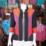 เสื้อคลุมผ้าฝ้ายสุโขทัยคอจีน ไซส์ XL