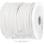 เชือกหนังซามัวร์ 3มม. สีขาว (100 หลา)