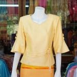 เสื้อผ้าฝ้ายสุโขทัย ปักมุก ไซส์ XL