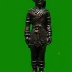 รูปหล่อยืนเนื้อโลหะรมดำ สมเด็จพระเจ้าตากสิน2 หลวงปู่บัว ถามโก