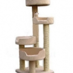 MU0085 คอนโดแมวห้าชั้น ต้นไม้แมว มีของเล่นแขวนให้เล่น สูง 100 cm