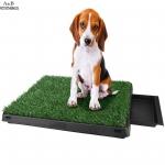 หญ้าเทียมสังเคราะห์ปลอดสารพิษสำหรับสุนัข ด้านล่างเป็นถาดถอดออกมาล้างทำความสะอาดได้ง่าย