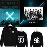 เสื้อฮู้ด มีซิป MONSTA X ระบุ ไซส์ สมาชิก