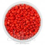 ลูกปัดเม็ดทราย 6/0 โทนด้าน สีแดง (100 กรัม)