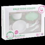 KK-11 ชุดจานชามและช้อนส้อม Ergo Kido Combo (เขียวมินท์)